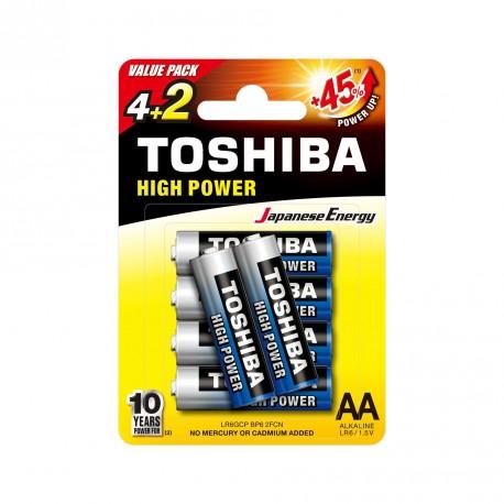 Pile 6LR61 - Pack de 1 TOSHIBA