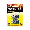 Piles LR03 - Pack de 6 TOSHIBA